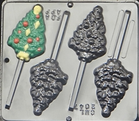 2047 Christmas Tree with Ornaments Lollipop Chocolate Candy Mold