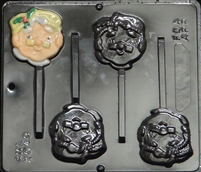 2049 Mrs. Santa Claus Lollipop Chocolate Candy Mold