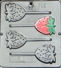 205 Strawberry Lollipop Chocolate Candy Mold