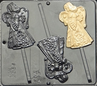 2056 Angel Lollipop Chocolate Candy Mold