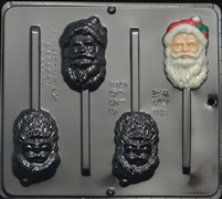 2059 Santa Face Lollipop Chocolate Candy Mold