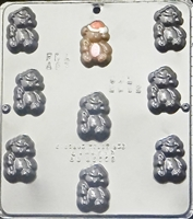 2062 Christmas Bear with Stocking Hat Chocolate Candy Mold