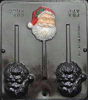 2066 Santa Face Pop Lollipop Chocolate Candy Mold