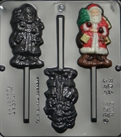 2069 Santa with Tree Lollipop Chocolate Candy Mold