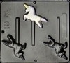 207 Unicorn Lollipop Chocolate Candy Mold