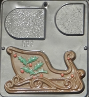 "2071 Christmas Sleigh ""Right Side"" Chocolate Candy Mold"