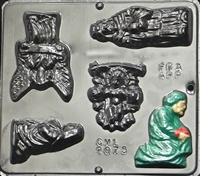 2075 Manger Scene Chocolate Candy Mold