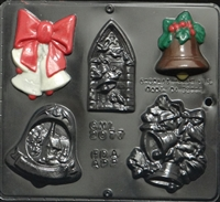 2077 Christmas Bell Assortment Chocolate Candy Mold