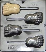 208 Foot Pop Lollipop Chocolate Candy Mold