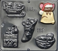 2080 Christmas Mouse Assortment Chocolate Candy Mold