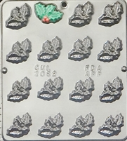 2082 Holly Leaf Pieces Chocolate Candy Mold
