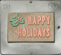 2083 Happy Holidays Card Chocolate Candy Mold