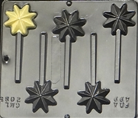 2085 Christmas Star Lollipop Chocolate Candy Mold