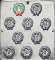2089 Small Christmas Wreath Chocolate Candy Mold