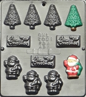 2091 Christmas Assortment Chocolate Candy Mold