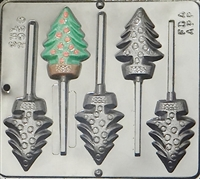2096 Christmas Tree Lollipop Chocolate Candy Mold