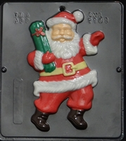 2101 Santa with Gift Chocolate Candy Mold