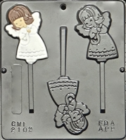 2102 Angel Lollipop Chocolate Candy Mold
