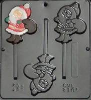 2106 Santa with Gift Bag Lollipop Chocolate Candy mold