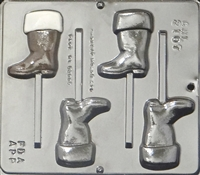 2107 Santa's Boot Lollipop Chocolate Candy Mold