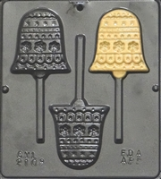 2108 Christmas Bell Pops Lollipop Chocolate Candy Mold