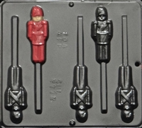 2112 Toy Soldier Lollipop Chocolate Candy Mold