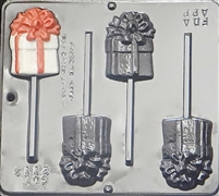 2113 Christmas or Birthday Gift Lollipop Chocolate Candy Mold