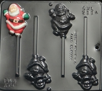 2114 Full Santa Lollipop Chocolate Candy Mold