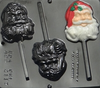 2117 Santa Lollipop Chocolate Candy Mold