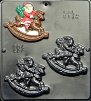 2119 Rocking Horse Santa Chocolate Candy Mold