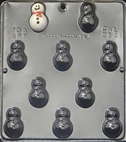 2121 Snowman Bite Size Chocolate Candy Mold