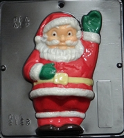 2123 Santa Claus Waving Chocolate Candy Mold