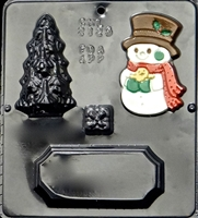 2125 Snowman, Tree & Gift Scene Assembly Chocolate Candy Mold