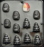 2128 Santa & Tree Assortment Chocolate Candy Mold