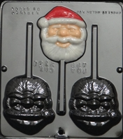 2136 Santa Face Lollipop Chocolate Candy Mold