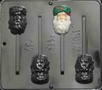 2137 Santa Olde English Lollipop Chocolate Candy Mold