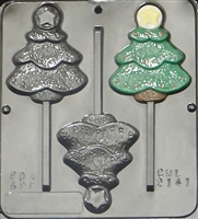 2141 Christmas Tree with Star Chocolate Candy Mold