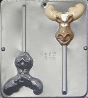 2145 Mr. Moose Reindeer Lollipop Chocolate Candy Mold