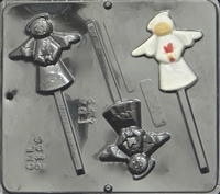 2146 Angel Lollipop Chocolate Candy Mold