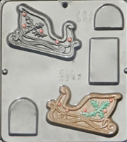 2147 Sleigh Assembly Chocolate Candy Mold