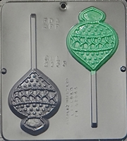 2153 Christmas Ornament Lollipop Chocolate Candy Mold