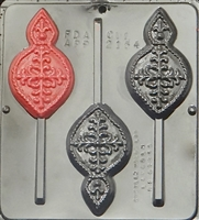 2154 Tree Ornament Lollipop Chocolate Candy Mold