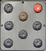 2156 Poinsettia Pieces Chocolate Candy Mold
