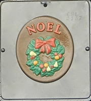 2157 Noel Plaque Chocolate Candy Mold