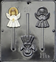 2159 Christmas Angel Lollipop Chocolate Candy Mold