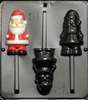 2161 Santa Pop Lollipop Chocolate Candy Mold