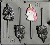 227 Unicorn Head Lollipop Chocolate Candy Mold