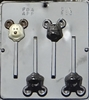 233 Mickey Mouse Head Lollipop Chocolate Candy Mold