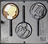 236 Nurse Lollipop Chocolate Candy Mold