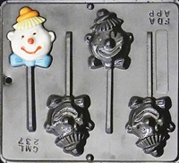 237 Clown Lollipop Chocolate Candy Mold